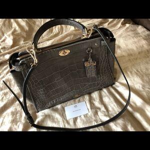 87aba5625fe9a Coach Gramercy CrocPrint Mink Leather Bag ...